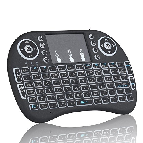 Blacklight 2.4GHz RF Portable Mini Wireless Keyboard English Russian Version with Touchpad Mouse for Raspberry Pi 3 Mini PC