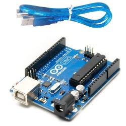 Arduino UNO R3 + USB cable (Clone)
