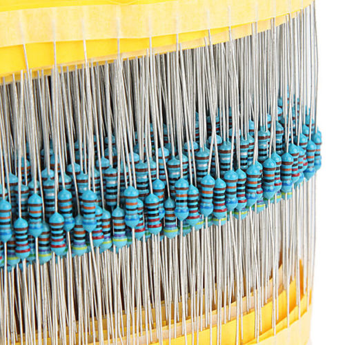 600 pcs 1/4W 1% Metal Film Resistor kit