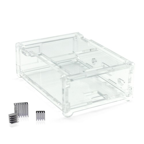 Casing Box Raspberry Pi 512 rev3 RPI3 + 2 acrylic shell
