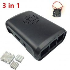 Raspberry Pi Casing with Fan module for Raspberry Pi 3, 2 Raspberry Pi model B+  include 2 pieces of aluminum heat sink