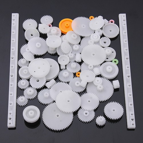 Plastic gear,Rack,Pulley,Belt,Worm gear,Single and Double-gear, 8-56 teeth