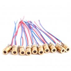 650nm 6mm 5V 5mW Adjustable Laser Dot Diode Module Red Copper Head