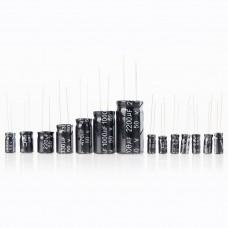 12 value 1uF-470uF Electrolytic Capacitor Kit1UF 2.2UF 3.3UF 4.7UF 10UF 22UF 33UF 47UF 100UF 220UF