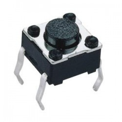 Tactile Push Button Switch Momentary Tact 6x6x5mm DIP Through-Hole 4pin