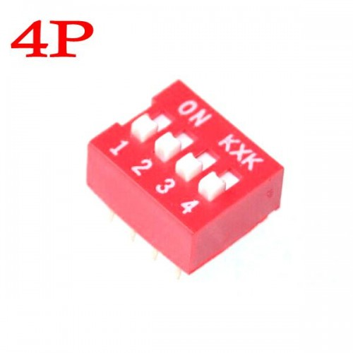 4 Position 4P DIP Switch 2.54mm