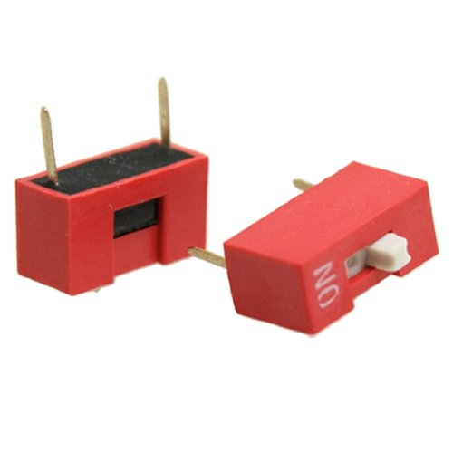 2.54mm Pitch 1 Position 2 Pin/Row Red DIP Switch 1P