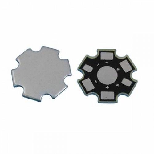 Heat Sink Aluminium Plat LED 1W - 3W Universal Star PCB Heatsink